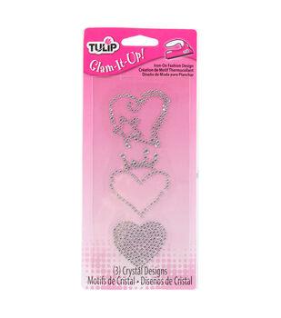 Tulip® Glam-It-Up!™ Iron-On Fashion Design Multi-Pack Heart