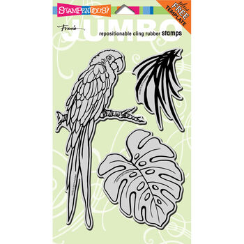 Stampendous Jumbo Cling Rubber Stamp Parrot