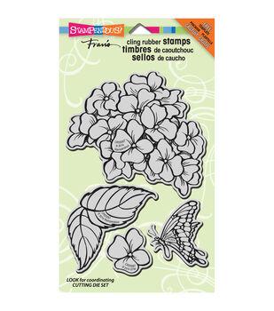 Stampendous Hydrangea Garden - Cling Rubber Stamp