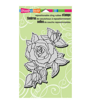 """Stampendous Cling Rubber Stamp 4""""X6"""" Sheet-Timeless Rose"""