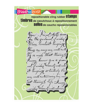 """Stampendous Cling Rubber Stamp 4.5""""x5.5"""" Sheet-Vintage Note"""