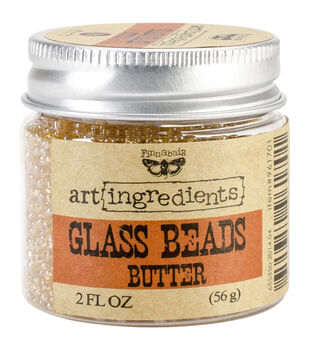 Art Ingredients Glass Beads 2oz-Butter