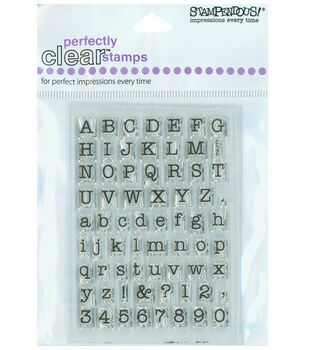 Stampendous Perfectly Clear Stamps-Small Typewriter Alphabet