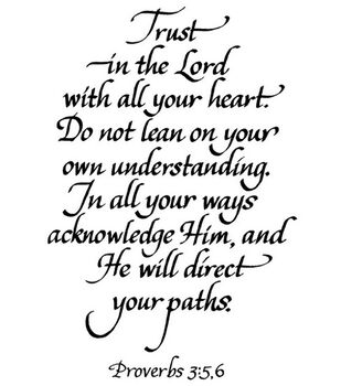 Stampendous Rubber Stamp-Trust In The Lord