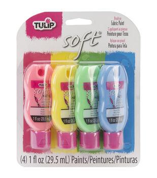 Tulip Soft Fabric Paint Set 1oz 4/Pkg