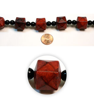 Marble Faceted Cube Acrylic Beads
