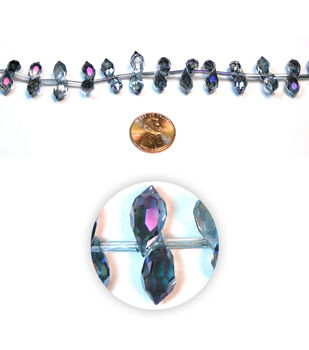 Gem Drop Glass Beads
