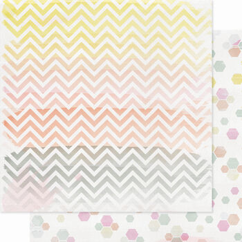 Pink Paislee Color Wash Colorful Double-Sided Cardstock 12''x12''
