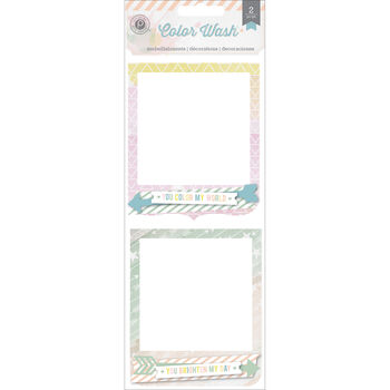 Pink Paislee Color Wash Cluster Frames 3D Stacked Cardstock With Opening