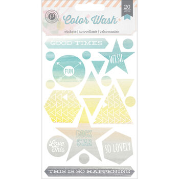Pink Paislee Color Wash Printed Canvas Stickers