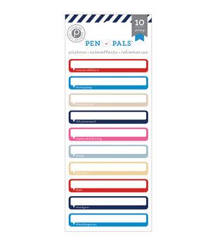 Pen Pals Cardstock Stickers-Labels
