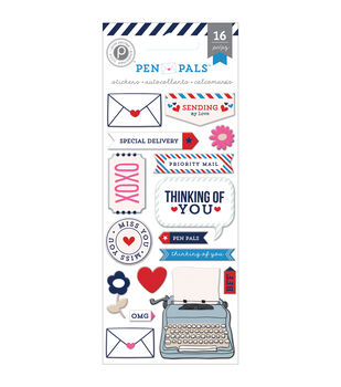 Pen Pals Puffy Stickers