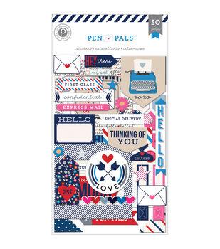 Pen Pals Chipboard Stickers Flip Pack 3/Sheets-Frames, Word Art & Shapes