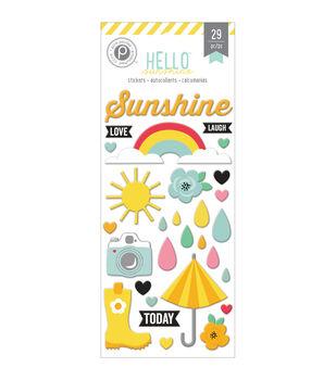 Hello Sunshine Puffy Stickers