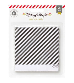 """Merry & Bright Countdown Cards 4""""X4"""" 25/Pkg-Double-Sided"""