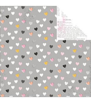 """Bella Rouge Double-Sided Cardstock 12""""X12""""-Heartfelt"""