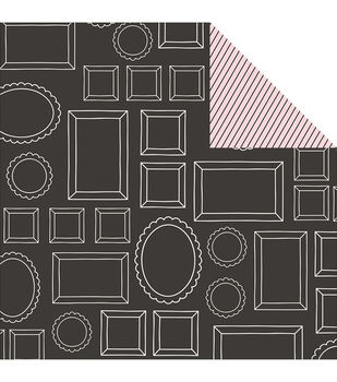 """Bella Rouge Double-Sided Cardstock 12""""X12""""-Mirror Mirror"""