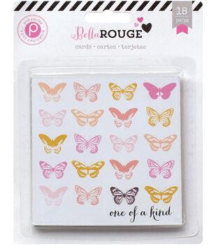 "Bella Rouge Journaling Cards 4""X4"" 18/Pkg-Journaling Cards"
