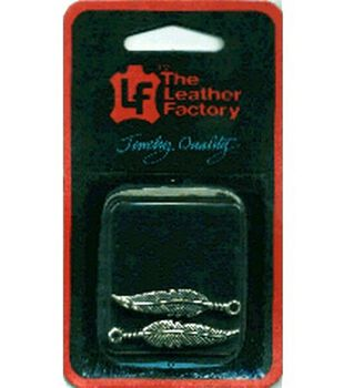 The Leather Factory 1 1/2'' Charm-Feather 2PK/Silver