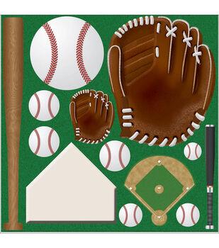 Reminisce Cardstock Stickers-Baseball