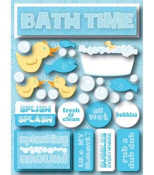 Reminsce Signature Dimensional Stickers-Bath Time