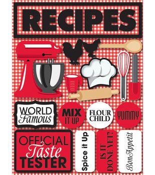 Reminsce Signature Dimensional Stickers-Recipes