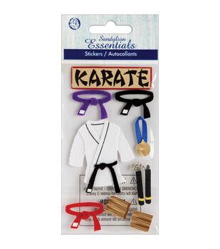 Sandylion Essentials Dimensional Stickers-Karate