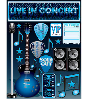 """Signature Dimensional Stickers 4.5""""X6"""" Sheet-Live In Concert"""