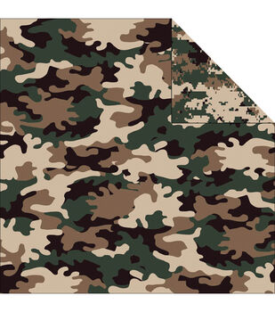 Reminisce Camouflaged Woodland Double-Sided Cardstock 12''x12''