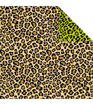 Reminisce Jungle-Icious Leopard Double-Sided Cardstock