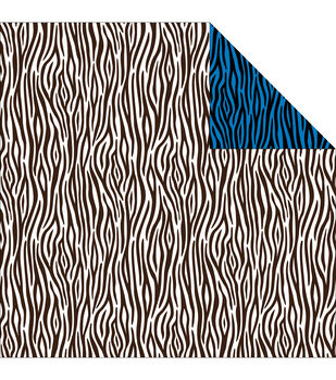 Reminisce Jungle-Icious Zebra Double-Sided Cardstock