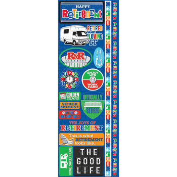 Reminisce Signature Series 2012 Cardstock Combo Stickers Retirement