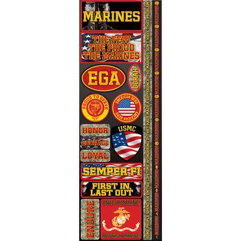 Reminisce Signature Series 2012 Cardstock Combo Stickers Marines