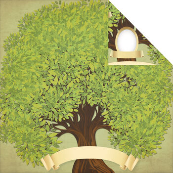 Reminisce Signature Series Family Tree Double-Sided Cardstock 12''x12''