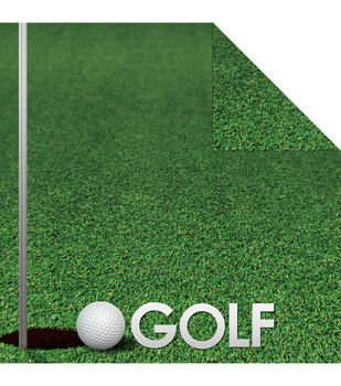 Reminisce Signature Series Golf Double-Sided Cardstock 12''x12''