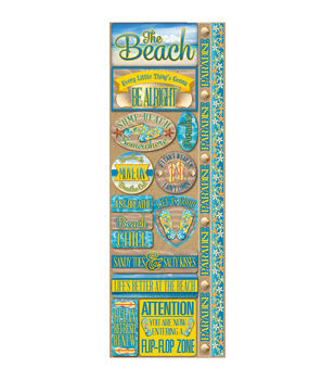 Signature Series Cardstock Combo Sticker Beach