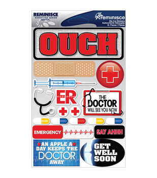 Reminisce Signature Dimensional Stickers Doctor