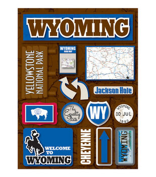 Reminisce Dimensional Stickers-Wyoming