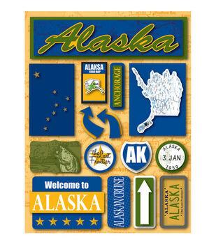 Reminisce Dimensional Stickers-Alaska