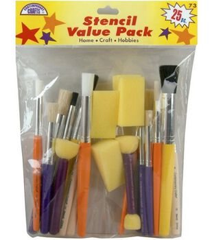 Comtemporary Stencil Brushes-25 Piece Set