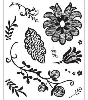 Basic Grey Origins Bitsy Stamps-Grape Leaf