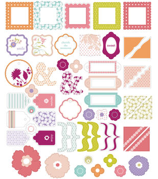 Making Memories Glitter Clear Stickers-42PK/Noteworthy
