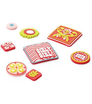 Basic Grey Gummies Rubber Stickers-8PK/Olivia