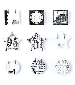 Basic Grey Details Decorative Stickers-White
