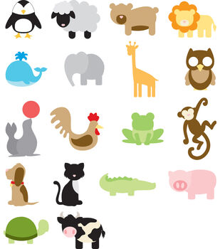 Making Memories Slice Fabrique Design Card-Animal Frenzy