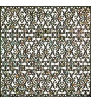 "Basic Grey Pyrus Doilies Laser-Cut Cardstock 12""X12-Honeycomb"