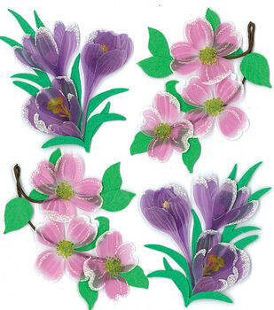 Jolee's Boutique Dimensional Spring/Easter Stickers-Dogwood/Crocus Flwrs