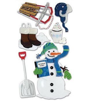 Jolee's Boutique Le Grande Dimensional Stickers-Snow Day