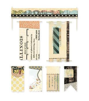 Serenade Self-Adhesive Paper Banners & Flags 7/Pkg-