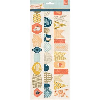Basic Grey Persimmon Stitched Die-Cut Paper Garland